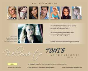Toni's Models website